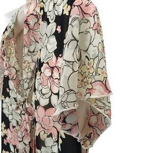 Nine West Floral Top   Black Cream Pink   12